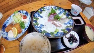 みなとの食堂 ひろの「お刺身と魚フライ定食」
