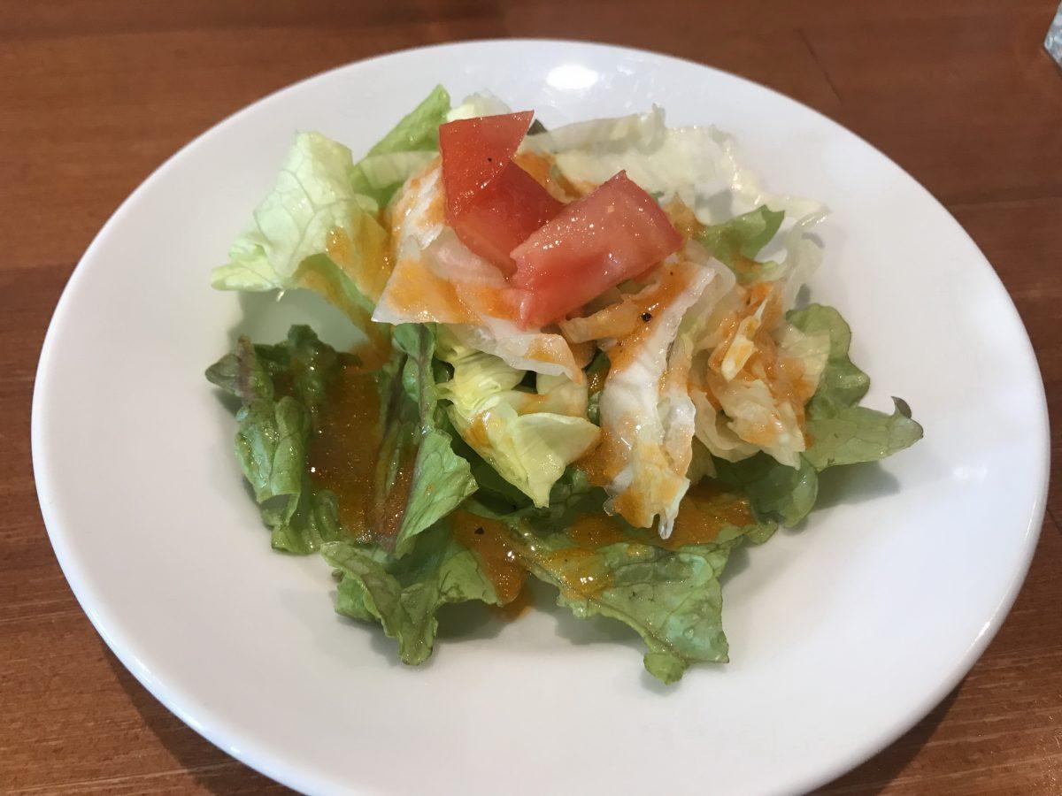 グレープナッツのランチセットのサラダ