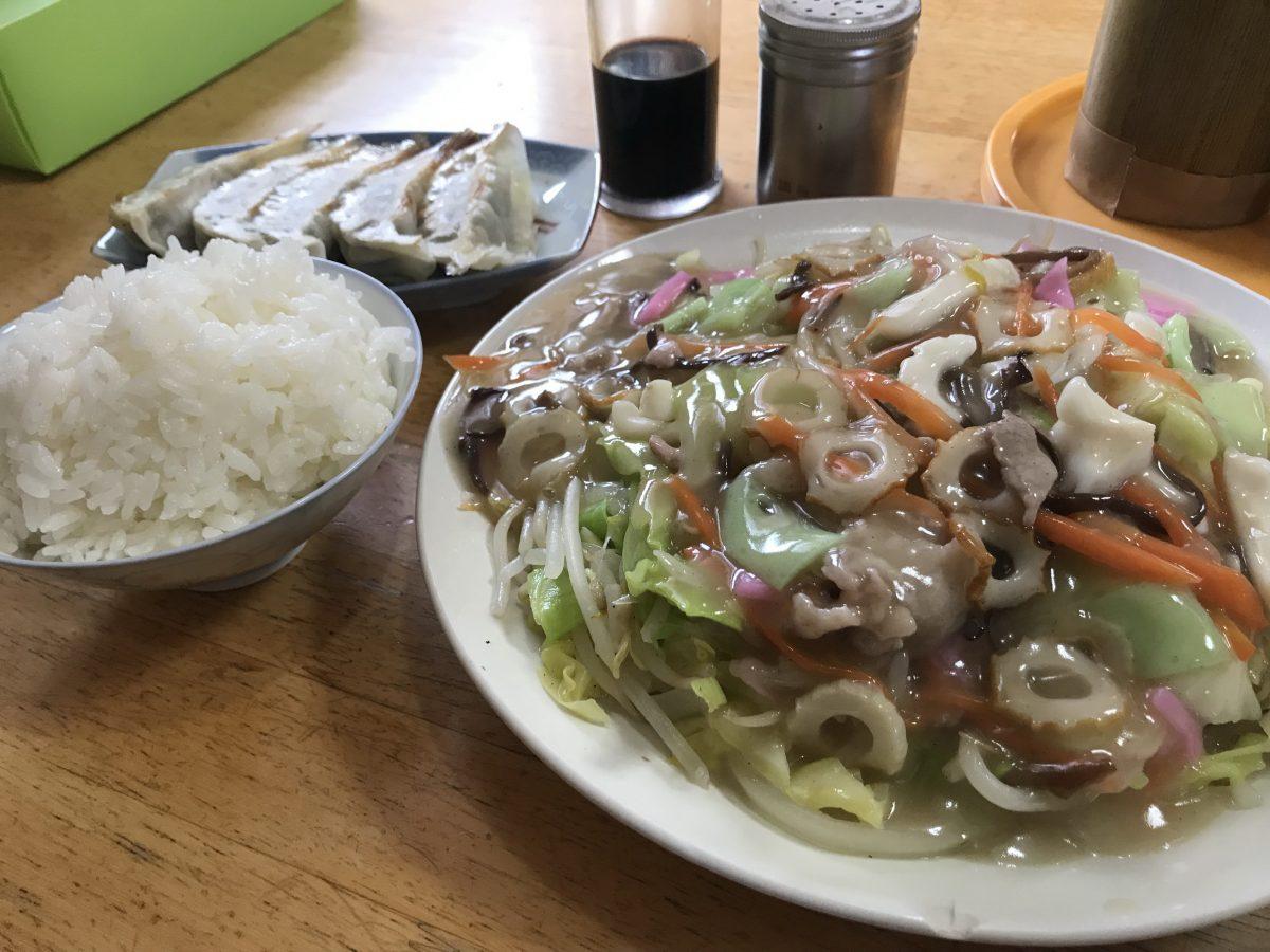 「食堂いぶ」の皿うどん定食