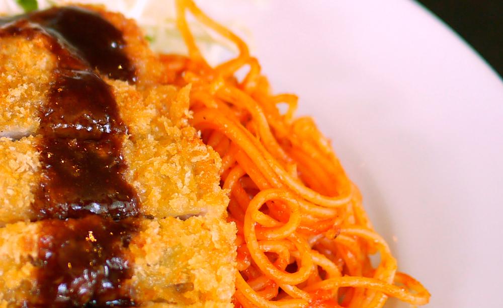 珍しい細麺のスパゲッティ
