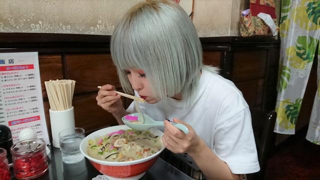 「MilkShake(ミルクセーキ)」のりおさんと梁川飯店の「ちゃんぽん」