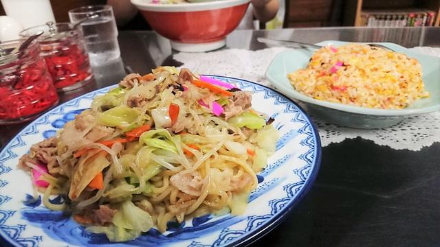 梁川飯店 やきそば炒飯サービスセット