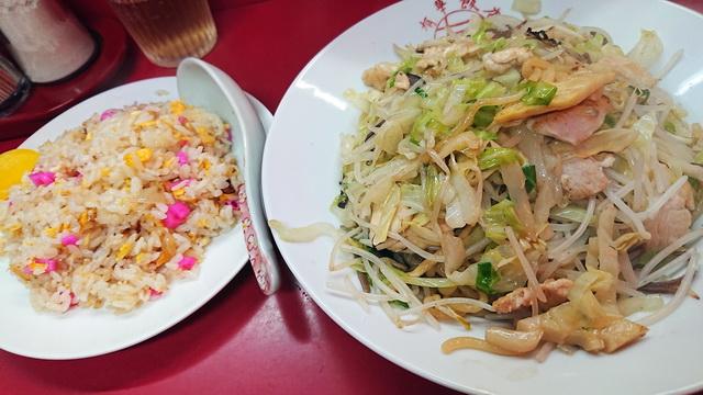 有華飯店 トリ皿うどんセット(太麺)