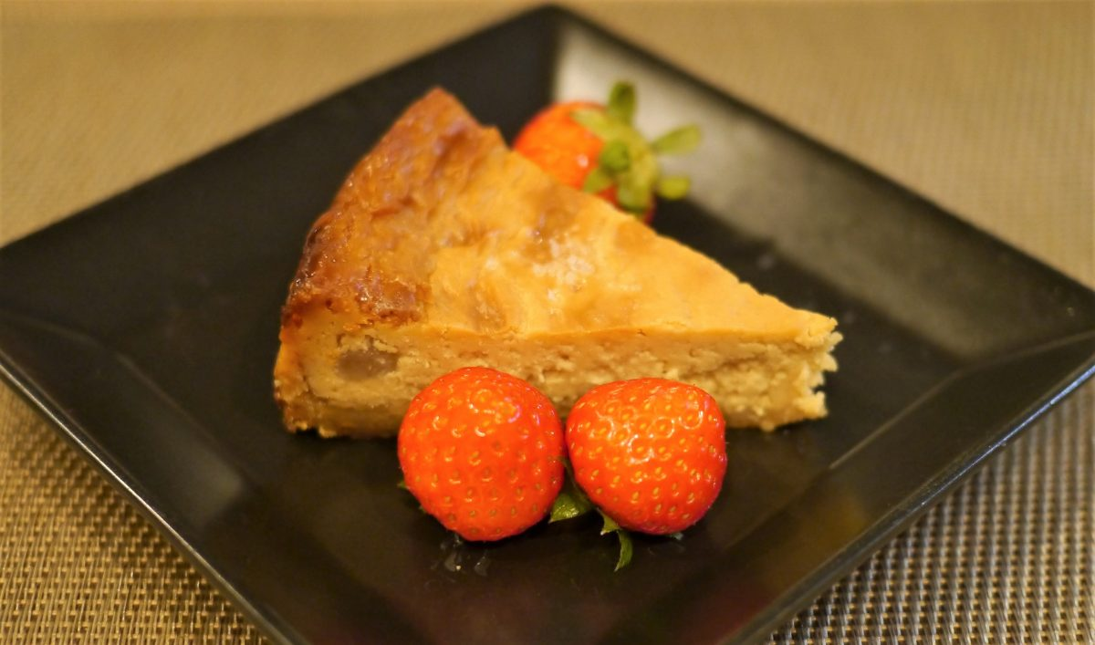 マカダミアナッツ入りチーズケーキ(400円)