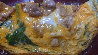 半熟卵のブタニラ(400円)