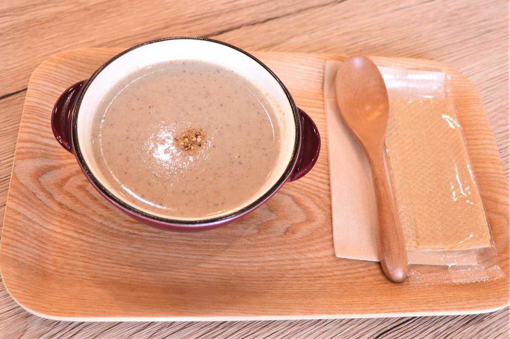 しいたけのcafeみなんめキッチンの「しいたけのポタージュスープ」(400円)